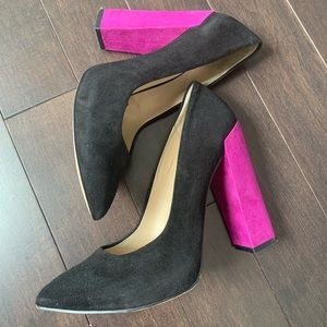 Zara Color Block Chuck High Heel Shoe Size 6
